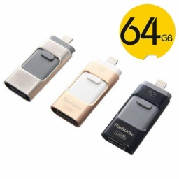 PENDRIVE 3 EN 1 IOS & ANDRIOD 64 GB