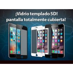 VIDRIO FULL COVER IPHONE 7 / 8 / SE 2020 NEGRO ADHIERE TODA LA PANTALLA