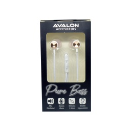 AURICULARES MANOS LIBRES AVALON PURE BASS BLANCO