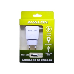 CARGADOR AVALON CABLE MICRO USB INTEGRADO Y PUERTO USB LIBRE 2,1 A