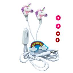 AURICULARES UNICORNIO DISEÑO INFANTIL 3.5 CELULAR MP3 PC