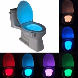 LUZ LED PARA INODORO MULTICOLOR RGB CON SENSOR DE MOVIMIENTO