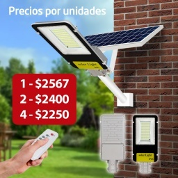 FOCO LED 50 W CON BRAZO AMURABLE + PANEL SOLAR INCORPORADO AVALON