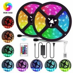 TIRA LED RGB 10M 5050 INTERIOR CON CONTROL