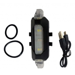 LUZ LED TRASERA PORTÁTIL PARA BICICLETA RECARGABLE USB BLANCO