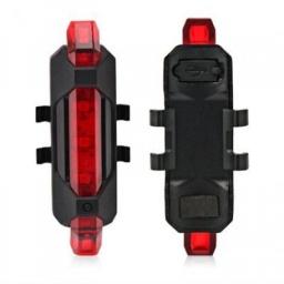 LUZ LED TRASERA PORTÁTIL PARA BICICLETA RECARGABLE USB
