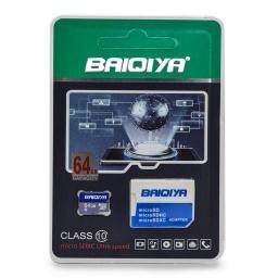 MEMORIA MICRO SD 64GB CLASE 10 C/ADAP BAIQIYA