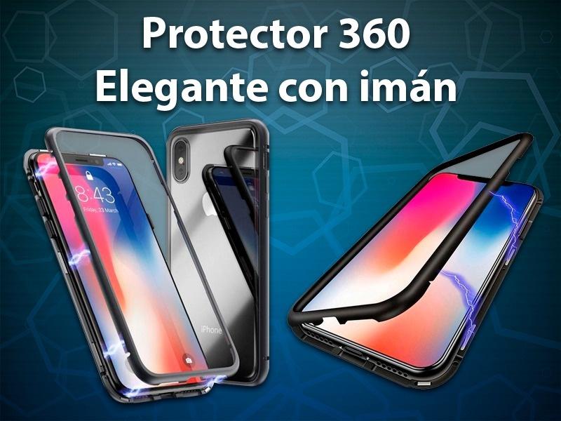 PROTECTOR 360 ELEGANTE CON IMAN SAMSUNG S10E PLATEADO