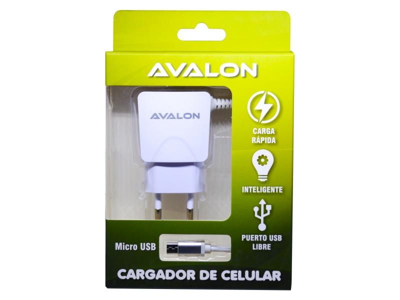 CARGADOR AVALON CABLE MICRO USB INTEGRADO Y PUERTO USB LIBRE 2,1 A
