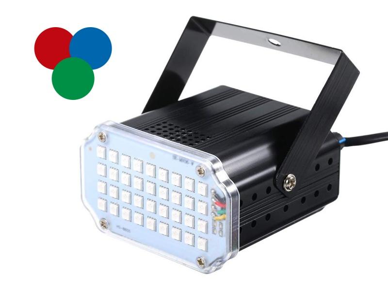 LUZ FLASH LED DISCOTECA 36W RGB COLOR
