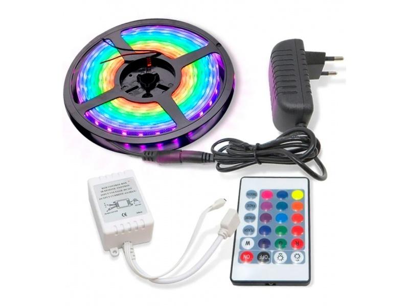 TIRA LED RGB 5M 2835 INTERIOR CON CONTROL