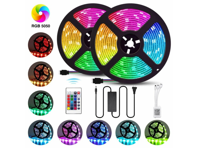 TIRA LED RGB 5M 5050 EXTERIOR CON CONTROL PACK EN BLISTER